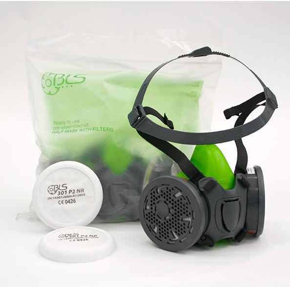 Demi masque silicone 4000 à cartouche BLS