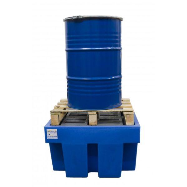 Bac de retention 1 fût polyéthylène haute densité