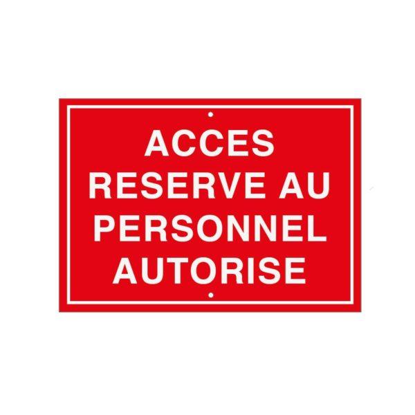 Accès réservé au personnel autorisé