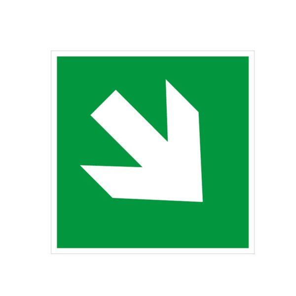 Flèche de secours diagonale en bas à droite