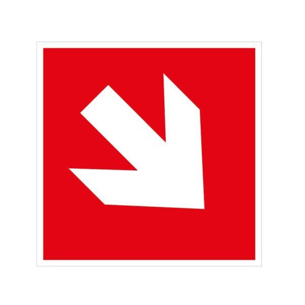 Flèche d'incendie diagonale en bas à droite