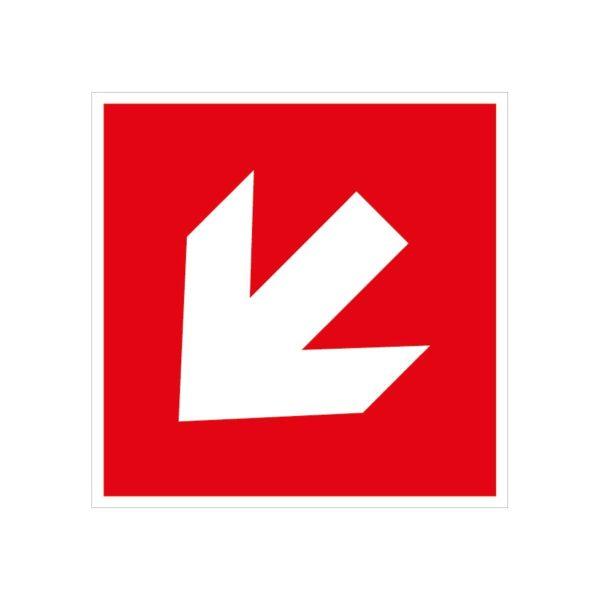 Flèche d'incendie diagonale en bas à gauche