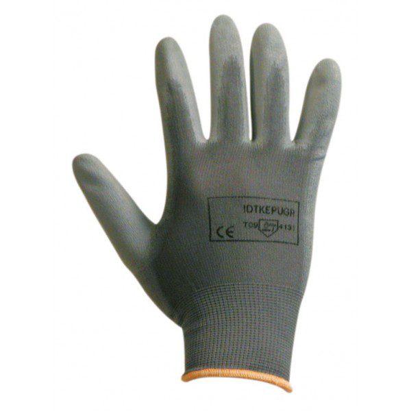 Gant polyester tricoté enduit polyuréthane