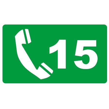 Téléphone d'urgence 15