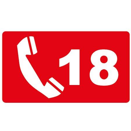 Téléphone d'urgence 18