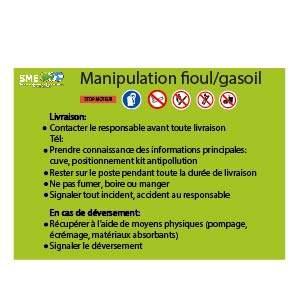Manipulation fioul et gasoil