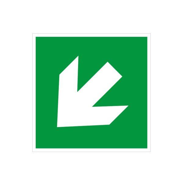 Flèche de secours diagonale en bas à gauche