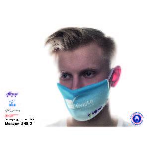 Masque en tissu réutilisable et personnalisable norme AFNOR S76-001 UNS 2