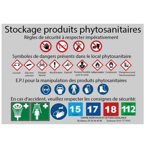 Stockage de produits phytosanitaires et numéros d'urgence